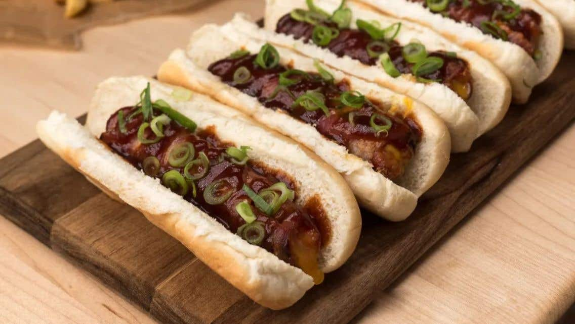 Grilled Supreme Hot Dogs