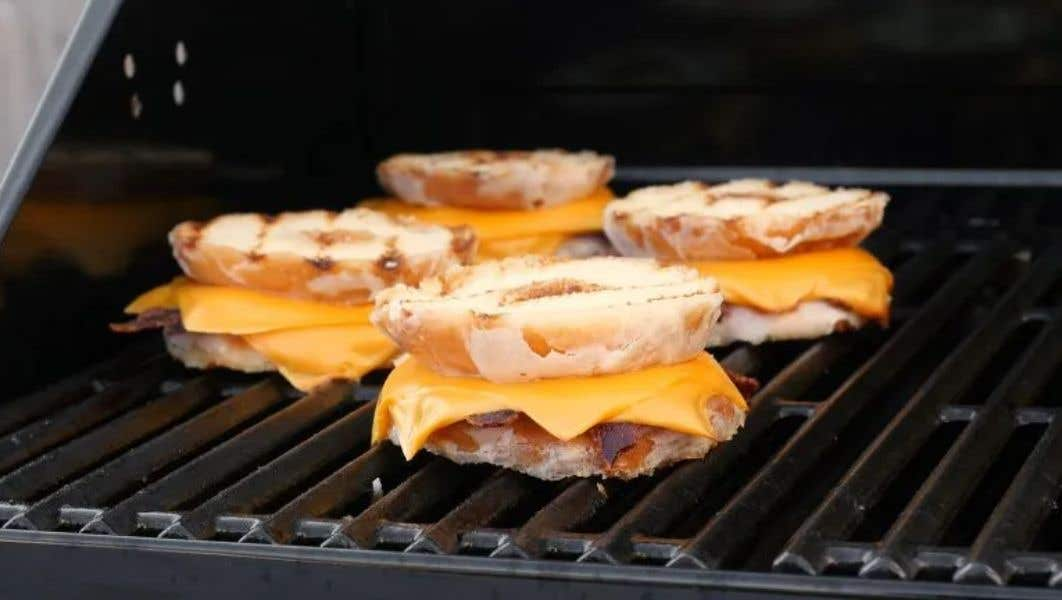 Donut Bacon Grilled Cheese Sandwiches