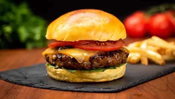 Lamb Burger with Smoked Gouda Cheese