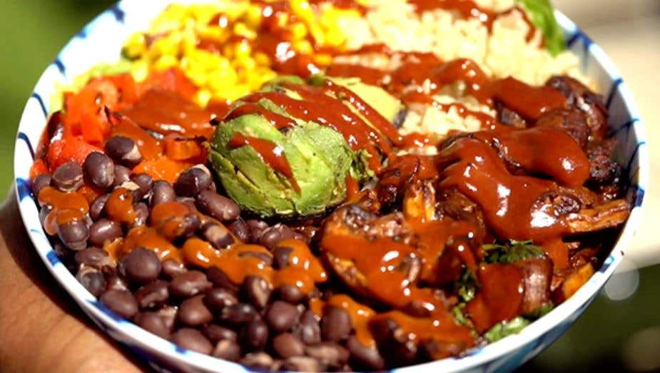 Grilled Chipotle Mushroom Bowl